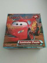 """Disney Pixar Cars McQueen & Mater 24 Piece Lenticular Puzzle 12""""x9"""" - $19.79"""