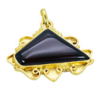 bonnie Red Onyx Gold Plated Red Pendant Glass freely US - $5.93