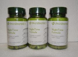 Three pack: Nu Skin Nuskin Pharmanex NightTime Night Time Formula 60 Capsules x3 - $72.00