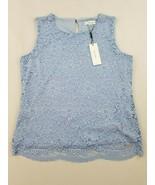 new CALVIN KLEIN women blouse top blue L MSRP - $26.00