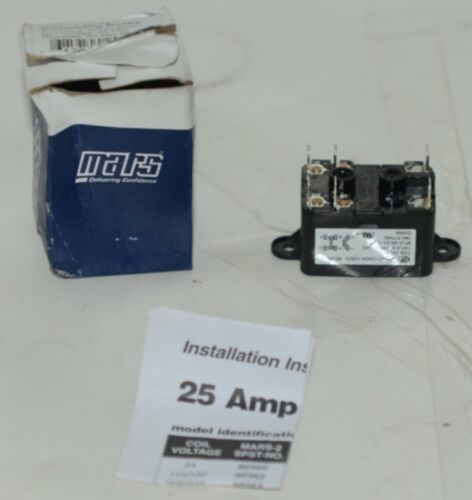 Mars 90380 Heavy Duty Switching Relay Coil Voltage 24 VAC