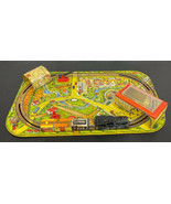 Marx Metal Wind Up Tin Lithograph Train Set and Layout 1950's Vintage RARE  - $169.69