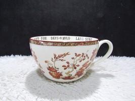 Copeland Spode England India Tree Large Soup Cup We'll Tak a Cvp O' Kind... - $99.95