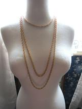 VTG Trifari Necklace Crown Mult Chain Gold Plate Couture Torsade Festoon... - $59.39