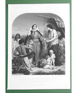 BIBLE St Luke Tabitha or Dorcas' Good Deeds - FINE QUALITY Antique Print - $14.85