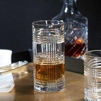Ralph Lauren Glen Plaid Crystal Highball Glasses Set of 4