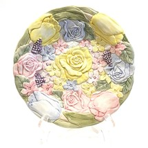 """Fitz and Floyd Bunny Hollow 9-1/2"""" Luncheon/Dinner Plate Spring Flowers - $22.99"""