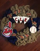 Cleveland Indians Wreath- Roll Tribe - $50.00