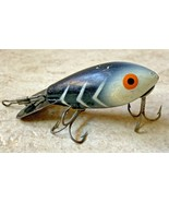 Vintage Luxon Black with Stripes Fishing Lure 2 Hooks Old Antique Hook B... - $13.56