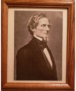 "Framed and Matted Mathew Brady portrait of Jefferson Davis in 1865. 8"" x... - $19.99"