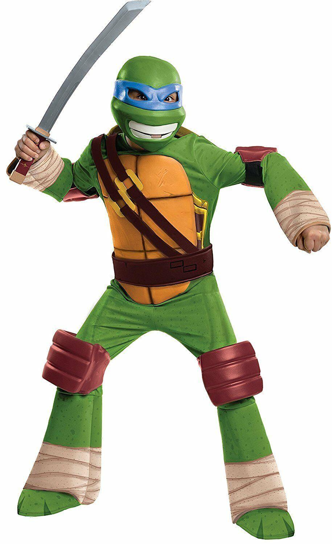 Teenage Mutant Ninja Turtles Leonardo Child Deluxe Costume M (8-10) Sewer Cover - $29.09
