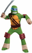 Teenage Mutant Ninja Turtles Leonardo Child Deluxe Costume M (8-10) Sewer Cover - £22.33 GBP