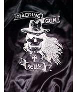 Machine Gun Kelly MGK American Rapper Actor Black White Nylon Button Jac... - $123.75