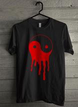 Bleeding Dripping Yin Yang Men's T-Shirt - Custom (2181) - $19.12+