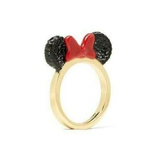 Kate Spade X Disney Minnie Mouse Ears Limited Edition Gold Plated Ring 7,8 - $49.99