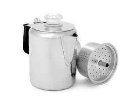 Stainless Steel Coffee Percolator 12 Cup Pots Sturdy & Easy Clean Campin... - $67.98