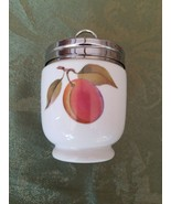 Egg Coddler Royal Worcester Porcelain FRUIT Made in England Peach Grapes - $18.37
