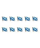 """Lotto di 10 Bandiera Scozia Risvolto Spillette 0.5 """" S.Andrea Croce - $15.52"""