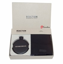 Kenneth Cole Reaction Men's Black Beanie Hat and Flask Gift Set $55 - $22.00