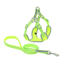 Reflective and breathable mesh dog harness-Black-Green-Pink-XS-S-M-L - $19.99