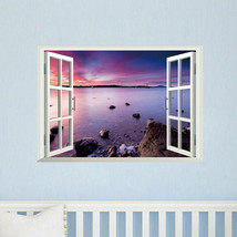 3D Sea View Room Fake Window Background Wall Sticker DetachableFREE SHIP... - $15.43