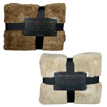 NEW HOTEL PREMIER Collection Luxury Throw Super Soft Warm Faux Fur Blanket - $89.99