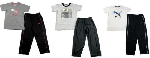 PUMA Little Boy's Pants Set Tee T-Shirt Shirt Track Pant 2-Piece Outfit NEW
