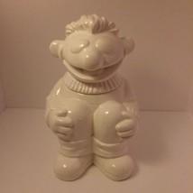 Vintage 1970's Sesame Street Muppets Sitting Ernie White Ceramic Cookie Jar - $38.68