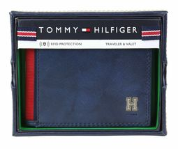 Tommy Hilfiger Men's Leather Credit Card Id Traveler Rfid Wallet 31TL240004 image 3