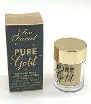 Too Faced Pure Gold Ultra Fine Face & Body Glitter Infused Real Gold ~ BNIB ~ - $11.14