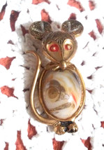 Vintage Spain Damascene Toledoware Dimensional Jelly Belly Mouse Pin Brooch - €12,82 EUR