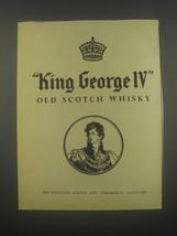 1959 King George IV Scotch Advertisement - $14.99