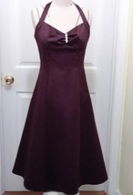 David's Bridal bridesmaid dress classic short style, halter top,brown sz 2 - $60.78