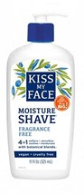 Kiss My Face Moisture Shave, Fragrance Free, 11 oz image 1