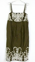Isaac Mizrahi For Target Womens Sun Dress Size 14 Brown with White Embro... - $28.69