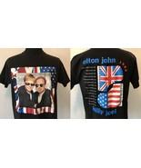 Vintage Elton John Billy Joel 1994 Face to Face Concert Tour T Shirt siz... - $25.95