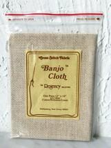 Regency Mills 14 Count Banjo Cloth Cross Stitch Fabric Cotton Blend - 12... - $4.70