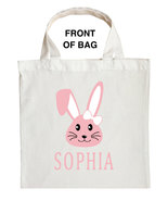 Bunny Trick or Treat Bag, Personalized Bunny Halloween Bag, Bunny Loot Bag - $11.99+