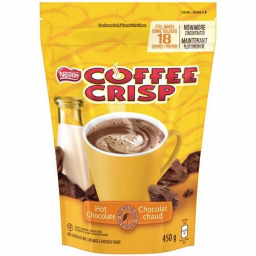 4 Bags Nestle Coffee Crisp Hot Chocolate Mix 18 Servings 450g Each -Canada FRESH - $32.62