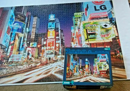 Times Square New York NY Jigsaw Puzzle +  Poster 2000 Piece Buffalo Games - $12.86