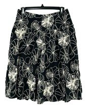 Chico's Womens Skirt Size 0 XS 4/6 Embroidered Pattern Black White Skirt... - $19.34