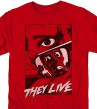 They Live t-shirt Roddy Piper Retro 80s horror sci-fi graphic red tee UNI968 image 2