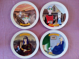 Maxine By Hallmark Plates Famous Art Parody Set Of Four Dishes - $14.99