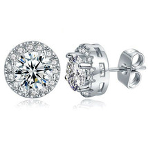 Elegant Fashion Women Lady Circle Crystal Rhinestone Ear Stud Earrings J... - $4.89