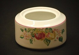 Sussex Gardens by Princeton Studios Open Sugar Bowl Fruit & Flower Rim P... - $14.84
