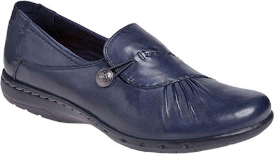 e5c8d92c8147 Rockport Cobb Hill Paulette Slip On Womens Shoes - Navy Full Grain Leather   100 -  96.55