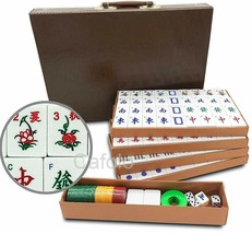 """Chinese Mahjong Set X-Large 144 Numbered Tiles 1.5""""  Mah-jong with Carry... - $48.50"""