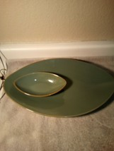 CHARTER CLUB--NATURA PLATTER-CHIP / DIP--SERVER--1999--TURQUOISE--FREE S... - $57.77
