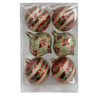 6-Count Red & Green Finial Ornaments Seasonal - $49.49