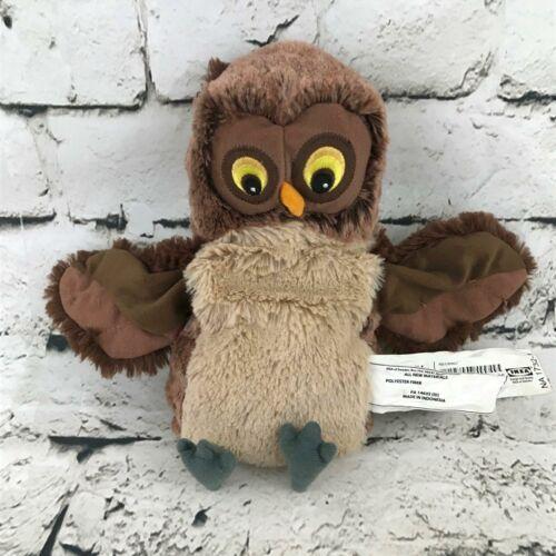 IKEA Vandring Uggla Owl Plush Brown Yellow Eyes Stuffed Animal Soft Toy - $14.84